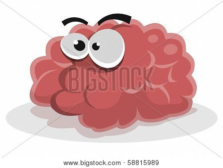Funny Brain Character