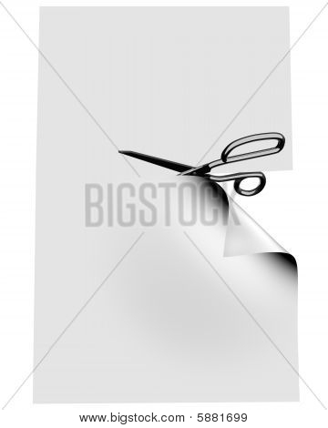 Scissors Clipping Blank