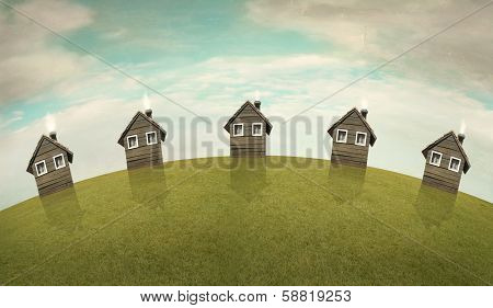 Landscape Of Houses