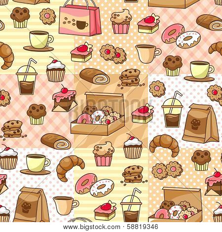 coffee and cakes pattern