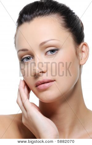 Fresh Healthy Skin Of Woman Face
