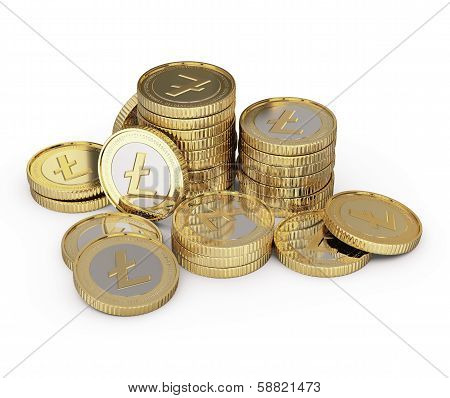 Golden Litecoin coin