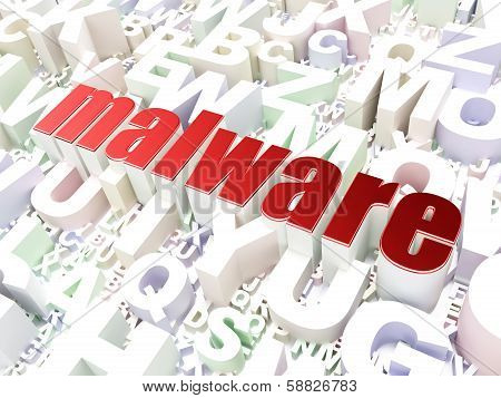 Security concept: Malware on alphabet background