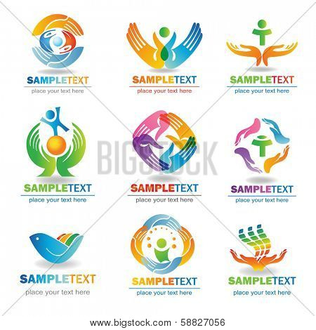 Insurance  Design Elements, Isolated On White Background, Vector Illustration
