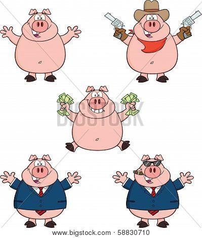 Pig Cartoon Characters