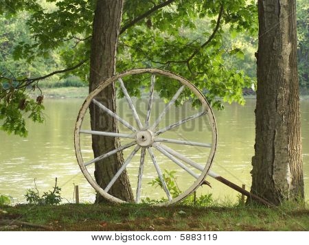 Wagon wheel on the Allegheny River