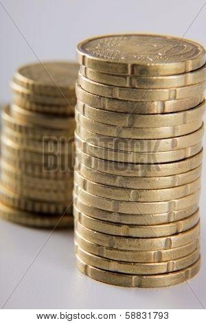 a coin pile