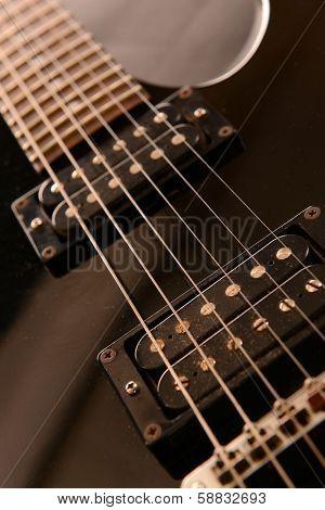 Electric guitar , close up