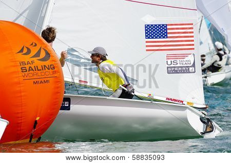Stuart Mcnay and Crew David Hughes Of Miami Won Bronze In The Men's 470 Class.