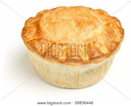 Meat pie isolated on white background