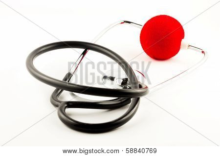 Stethoscope With Red Clown Nose