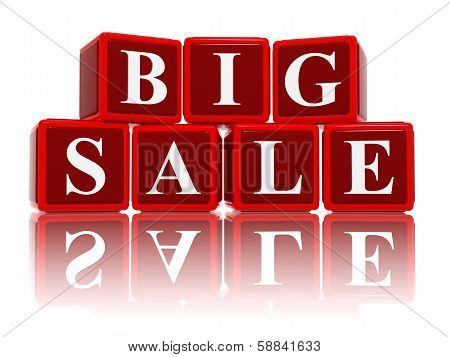 Big Sale In 3D Red Cubes