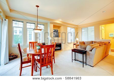 Living And Dining Room. Open Plan