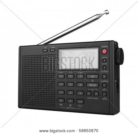 Portable Digital Radio, isolated on white background