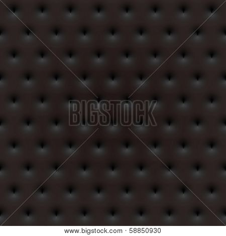 Black seamless texture. Simple clean background texture. 3D Vector interior wall panel pattern.