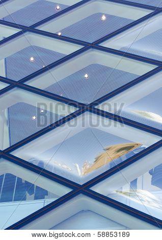 TOKYO - NOV 24: Rhomboid-grid Glass Wall of Prada store