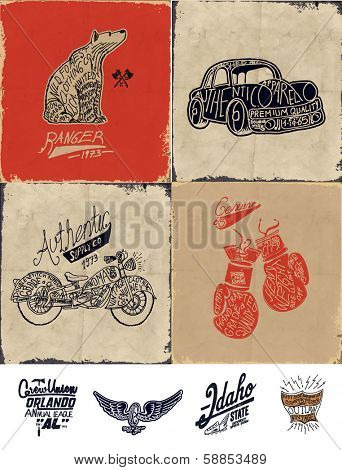 sketch collection with wording