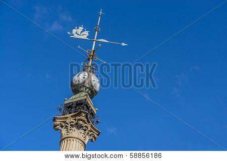 Obelisk In A Coruna, Galicia, Spain