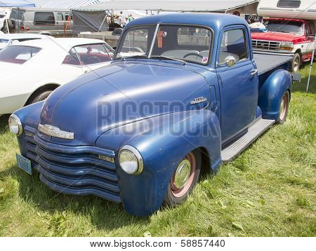 Blue Chevy 3100 Pickup Truck