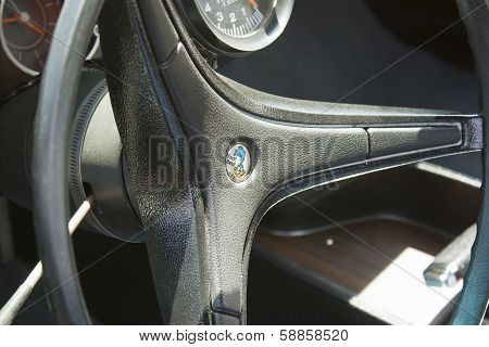 Yellow Plymouth Road Runner 440-8 Steering Wheel