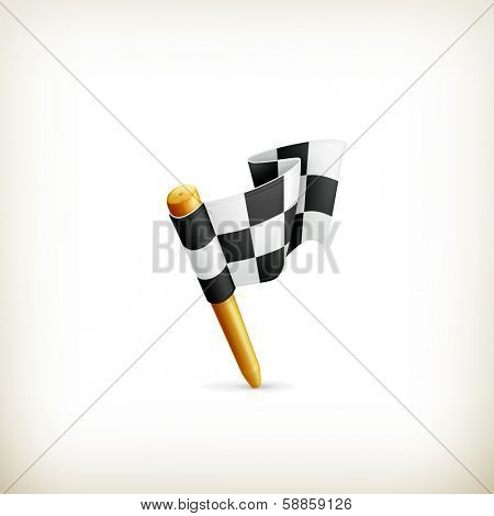 Checkered flag icon, bitmap copy