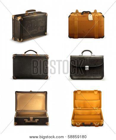 Old suitcase set, bitmap copy