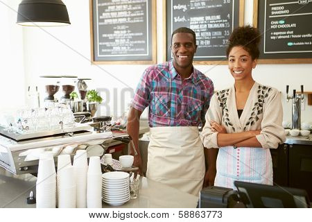 Female Owner Of Coffee Shop