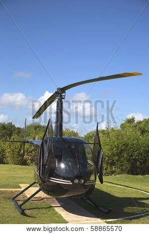 The Robinson R44 Helicopter from Cana Fly in Punta Cana, Dominican Republic