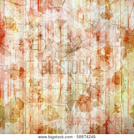 Antique Rose Cracked Linen Background