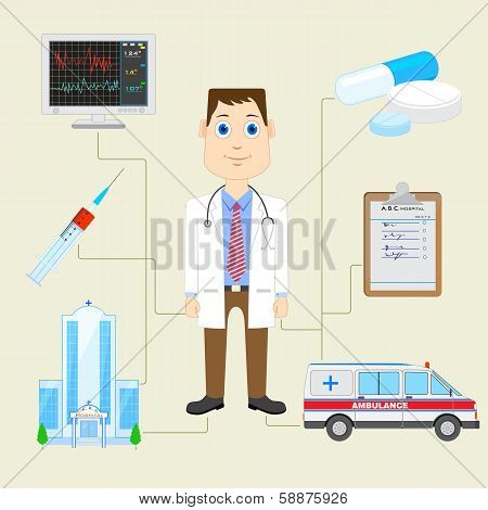 Doctor with Equipment