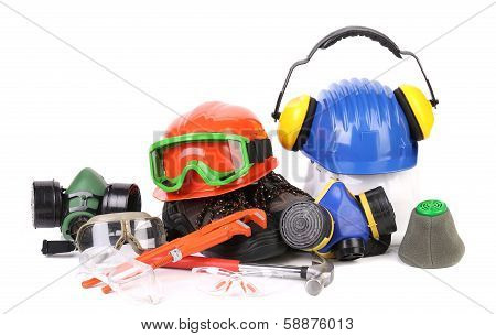 Varios safety equipment.