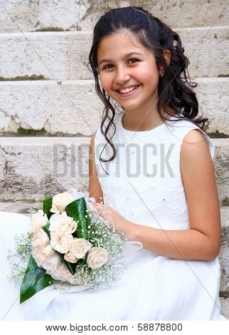 First Communion Beautiful Girl