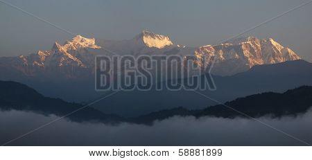 Annapurna Range at sunrise