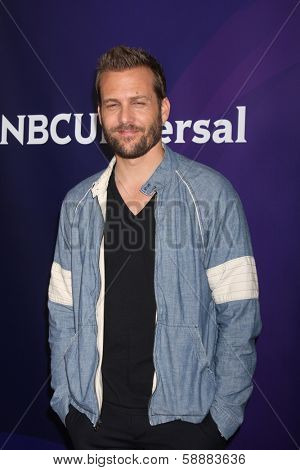 LOS ANGELES - JAN 19:  Gabriel Macht at the NBC TCA Winter 2014 Press Tour at Langham Huntington Hotel on January 19, 2014 in Pasadena, CA