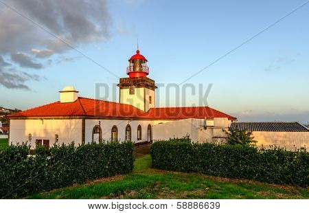 Lighthouse On Flores Island, Azorres Archipelago (portugal)