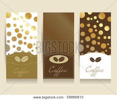 Coffe menu card flyer. Vector background illustration..