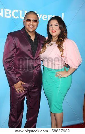 LOS ANGELES - JAN 19:  Fernando Vargas, Martha Vargas at the NBC TCA Winter 2014 Press Tour at Langham Huntington Hotel on January 19, 2014 in Pasadena, CA