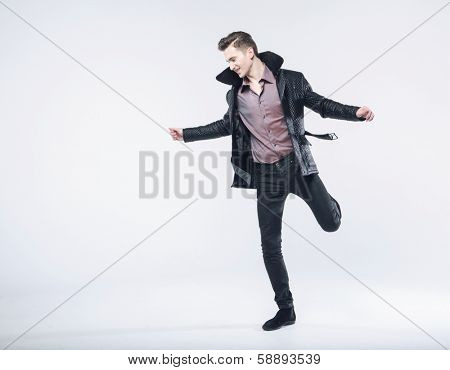 fashion style photo of a handsome man