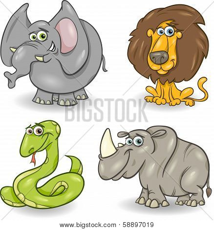 Cute Wild Animals Set