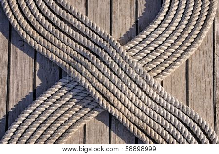 Rope on the ship deck