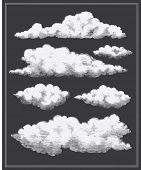 Chalkboard vintage clouds background