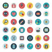 stock photo of bandage  - Set of flat Medical icons  - JPG