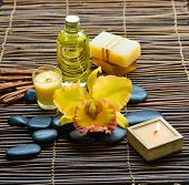 pic of gladiola  - Zen rock and Handmade soap with candle - JPG