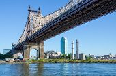 NEW YORK, SEPTEMBER 22, 2013 - Queensboro Bridge, view from Roosevelt Island
