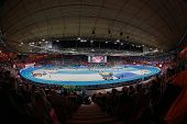 GOTHENBURG, SWEDEN - MARCH 3 An inside view of the Scandinavium stadium during the European Athletic