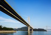 pic of hong kong bridge  - Suspension bridge in Hong Kong - JPG