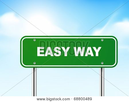 3D Easy Way Road Sign