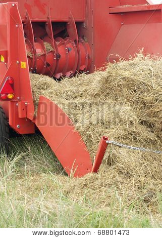 Tractor With Hay