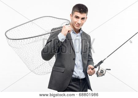 man and net