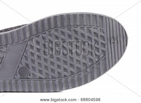 Rubber shoe sole.